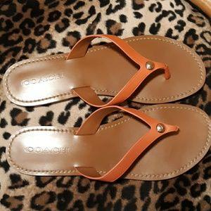 Coach Flip Flop Sandals NWOB